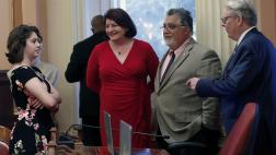 Senator Portantino with his daughter Bella and Pro Tem Atkins