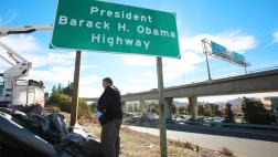 Senator Portantino Unveiling Barack H. Obama Highway Sign