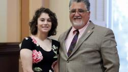 Senator Portantino with his daughter Bella
